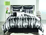 51M1xlfYMJL. SL160  Sunset and Vine Woodland 6 Piece XL Twin Comforter Set, Black/White