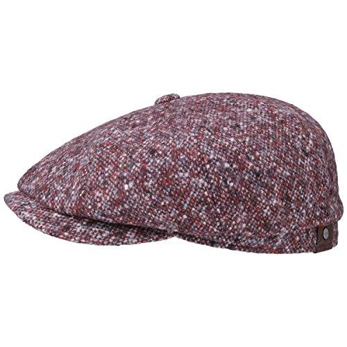 hatteras-schurwolle-flatcap-stetson-tweed-caps-57-cm-bordeaux