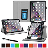 roocase iPad Air 2 Case - Dual View iPad Air 2 2014 Multi-Viewing Stand Folio Case Smart Cover for Apple iPad Air 2 (2014) 6th Generation Latest Model, Black