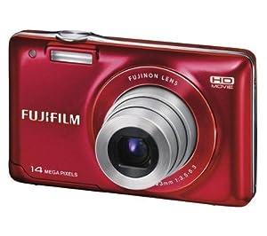 FUJIFILM JX500 - red Plus Compact Camera Case Plus 8 GB SDHC Memory Card