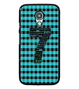 PrintDhaba Typographic Number Seven D-5086 Back Case Cover for MOTOROLA MOTO G2 (Multi-Coloured)