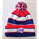 Los Angeles Clippers Custom Adidas Pom Beanie Ski Cap by