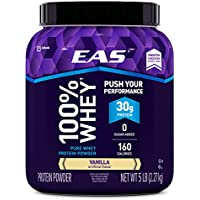 EAS 100% Whey Protein Powder 5-lb. Tub (Vanilla)