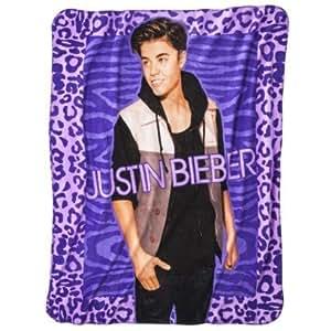 Amazon.com - Justin Bieber Throw - Purple - Childrens ... - photo #1