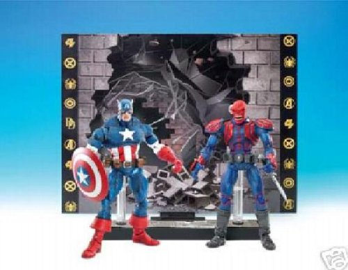 Buy Low Price Toy Biz Marvel Legends Face Off Series 1 Action Figure Twin Pack Captain America vs. Red Skull (B000F5Z7S0)