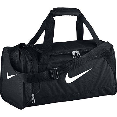 Nike Brasilia 6 - Sacca sportiva, misura XS, colore nero/nero/bianco