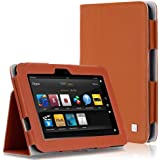 CaseCrown Bold Standby Case (Orange) for 2012 Amazon Kindle Fire HD 7 Inch (Built-in magnet for sleep / wake feature)