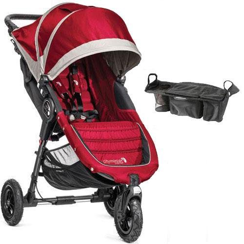 Baby-Jogger-City-Mini-GT-Single-Stroller-with-Parent-Console-Crimson-Gray