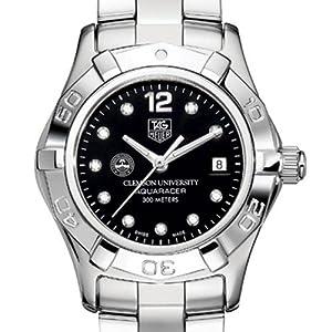 Clemson University TAG Heuer Watch - Ladies Aquaracer with Black Diamond by TAG Heuer