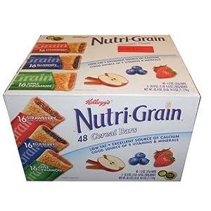 Nutri-Grain-Kellogg's Cereal Bars Variety Pack, 1.3 oz, 48-Count