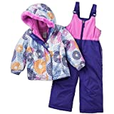 ZeroXposur Toddler Girl's Heart Puffer Jacket & Bib Snow Pants Set (2T)