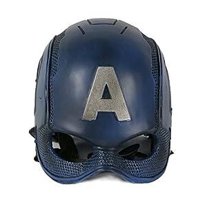Captain America 3 Mask Steven Rogers PVC Mask Adult Superhero Halloween Helmet, One size