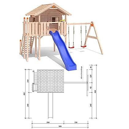 ISIDOR WONDER WOW Spielturm Kletterturm Baumhaus Rutsche Schaukeln Treppe 1,50m (einfacher Schaukelanbau) bestellen