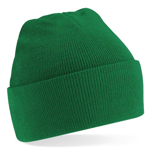Beechfield Knitted Hat, Kelly Green, One Size one size,Kelly Green