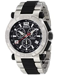 Invicta Men's 1868 Reserve Chronograph Black Dial Stainless Steel Watch