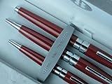 Cross Bill Blass 3-Piece Plama Red Lacquer Gel Ink Rollerball Pen , Ball Point Pen and Hand Bag Pen , Rare Combo.