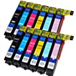 Compatible Epson XP-750 Ink Cartridges High Capacity 24XL (12-Pack)