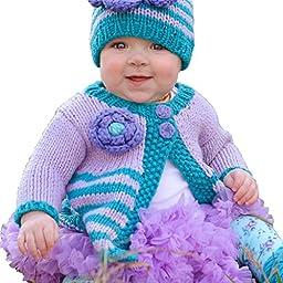 Huggalugs Girls Capri Ziggy Flower Sweater 12-18m