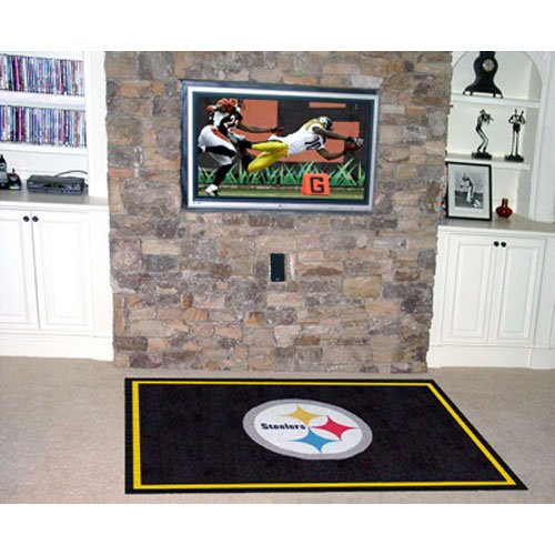 Fanmats 6318 Pittsbrugh Steelers  4' x 6' Area Rug