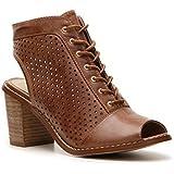 Chinese Laundry Cambridge Block Heel Booties Women's Shoes Rustic Tan Size 5m