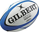 Gilbert Men's Zenon Training Rugby Ball - Blue/Black, Size 4