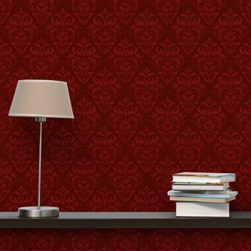 vliestapete roter franz sischer barock mustertapete quadrat. Black Bedroom Furniture Sets. Home Design Ideas