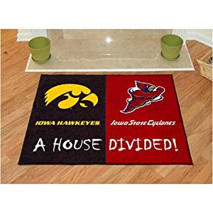 Iowa Hawkeyes Iowa State Cyclones House Divided NCAA All-Star Floor Mat (34x45) by Fanmats