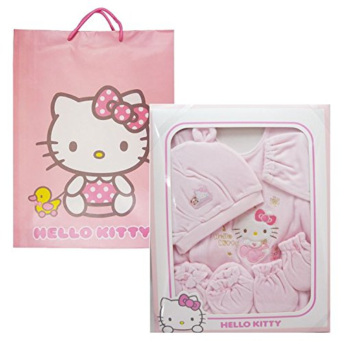 Hello Kitty Baby Fulff 4-Piece Layette Gift Set Pink Rabbit Sanrio - 1