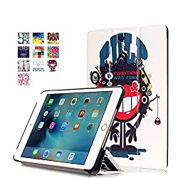 ProElite Designer Smart Flip Case cover for Apple iPad Mini 4 (Design-Pulp) [ Will FIT only mini 4]
