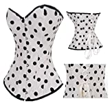Black Polka Dot Burlesque Fashion Corset