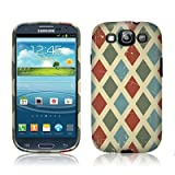 TaylorHe Hard Case for Samsung Galaxy S3 Siii i9300 Colourful with Patterns Full Body Printed Made in Great Britain Top Quality Design chequred, retro style
