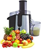 Vivo Powerful Professional 990W Whole Fruit Vegetable Juicer Extractor Black with Stainless Steel / Aluminium finish with Jug and cleaning brush