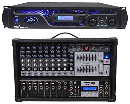 Peavey IPR2 5000 DSP 5,050 Watt Power Amp w/EQ, Crossover, Delay Settings+Mixer (Crossover For Mixer Amplifier compare prices)