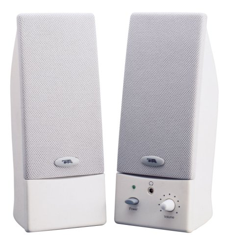 Cyber Acoustics CA2015 2 0 Computer Speakers 2-Speaker WhiteB00006B9YB