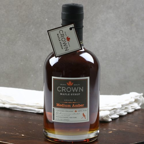 Organic New York Maple Syrup By Crown Maple Farm - Medium Amber (12 Ounce)