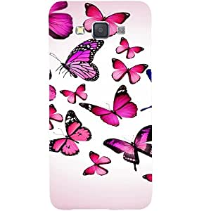 Casotec Flying Butterfly Colorful Design Hard Back Case Cover for Samsung Galaxy A5