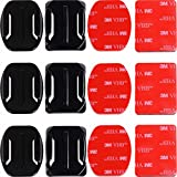 Adhesive Mounts for GoPro Cameras - 3x Curved & 3x Flat Mounts Bundle W/ 3M Sticky Pads - Tape Mount to Your Helmet/Bike/Board/Car - Fits ALL Go Pro Models, HERO4, HERO3+ Black Edition, HERO3, HERO2, HERO1, HD & SJ4000 etc. - By Premium Camera Accessories Brand Nordic Flash™ - 1 Year Warranty