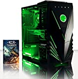 VIBOX Warrior 9 - Top Gaming PC, Multimedia, High Spec, Desktop PC Computer with WarThunder Game Bundle Tower with Neon Green LEDs Internal Lighting Kit PLUS a Lifetime Warranty Included* (Fast 3.5Ghz (4.1GHz Turbo) AMD, FX 6300 Fast Six Core Processor, 2GB Nvidia Geforce GTX 960 Graphics Card, 1TB HDD Hard Drive, 8GB 1600MHz RAM, No Operating System Included)