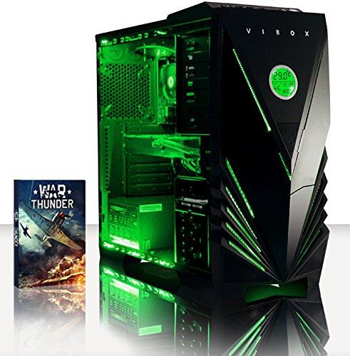 VIBOX Sharp 30 – 3,9GHz APU Dual Core AMD A4, GPU R7-360, Avancée, Multimédia, Haute Performance, Famille, Ordinateur PC de Bureau Gamer Gaming unité centrale, Éclairage Interne Vert (3,7GHz (3,9GHz Turbo) Processeur APU/CPU Dual Core AMD A4-6300 Ultra Rapide, Carte Graphique Dédiée AMD Radeon R7 360 2 Go, 16 Go Mémoire RAM DDR3 1600MHz Grande Vitesse, Disque Dur Sata III 7200rpm 1 To (1000 Go), PSU 400W 85+, Boîtier Gamer Vibox Predator Vert LED, DVD-RW, Pas de Système d'Exploitation Windows)