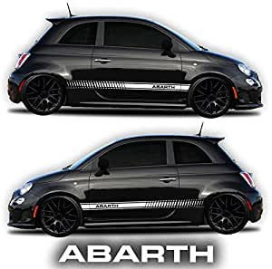 Amazon.com: Fiat 500 Abarth Side Decals Stickers Rocker Panel Racing