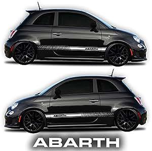 Amazon.com: Fiat 500 Abarth Side Decals Stickers Rocker Panel Racing