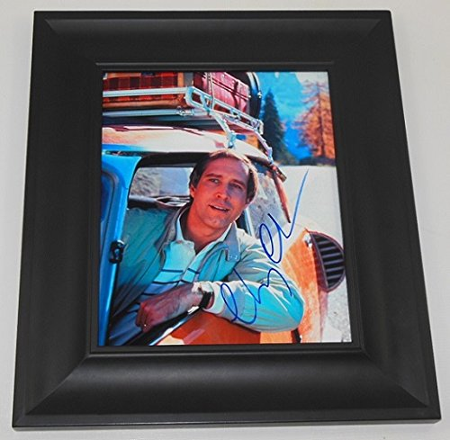 Vacation Clark Griswold Chevy Chase Authentic Signed Autographed 8x10 Photo Framed Loa
