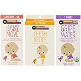 Wellements Infant Remedy Essentials Baby Move, Teeth Relief and Gripe Water, 3 Count