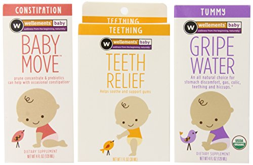 Wellements Infant Remedy Essentials Baby Move, Teeth Relief and Gripe Water, 3 Count - 1