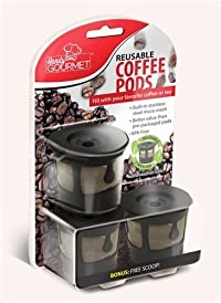 3 Reusable Coffee Pods Handy Gourmet Stainless Steel Mesh Filter Non BPA Kcup