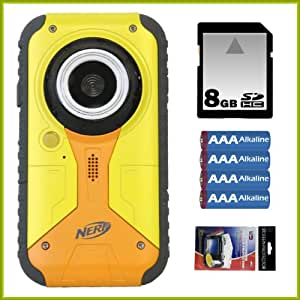 Nerf Digital Camcorder 640 X 480 Resolution with 1.8-inch LCD + 8GB SDHC + AAA Batteries