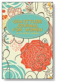 Gratitude Journal For Women - With Bible Verses. A floral abstract design in muted colors on the cover of this 5-minute gratitude journal inspires relaxation and reflection for the busy woman.