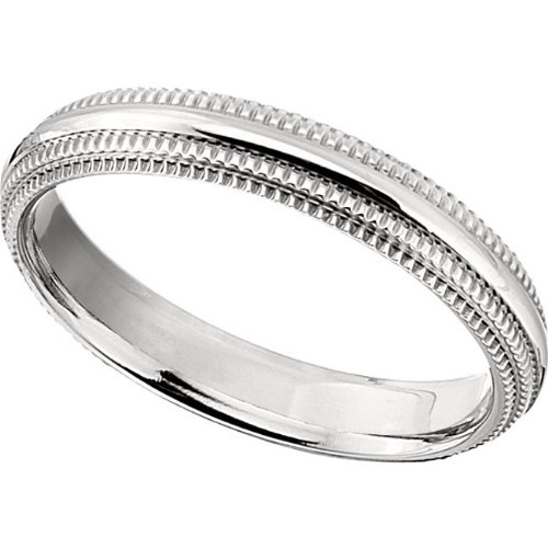 Titanium, Double Millgrain Wedding Band (sz 9.5)