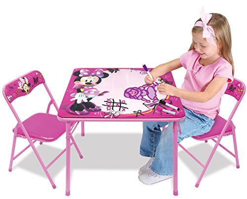 Minnie First Fashionista Erasable Activity Table Set with 3 Dry-Erase Markers (Kids Table Sets compare prices)