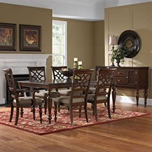 Standard Furniture Woodmont 8 Piece Leg Dining Room Set w/ Arm Chairs